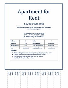 Download Apartments For Rent Flyer Gen4congresscom Gen4congress.com  #SampleResume #TearOffFlyerTemplate  For Rent Flyer Template