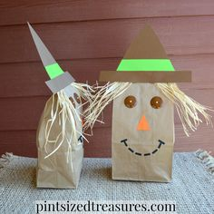 Paper bag scarecrows are one of my favorite ways to bring the feel of autumn…