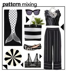 """""""#patternmixing"""" by hellodollface ❤ liked on Polyvore featuring PBteen, Azzaro, River Island, Nearly Natural, Kate Spade, Christian Dior, ELSE, Monies and patternmixing"""