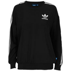 adidas Originals Trøje 3stripes Sweats ($67) ❤ liked on Polyvore featuring tops, hoodies, sweatshirts, shirts, jumpers, sweaters, sweatshirt, shirt tops, adidas originals sweatshirt and adidas originals shirt