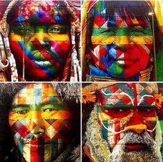 Eduardo Kobra details in Rio de Janeiro, 8/16 (LP)
