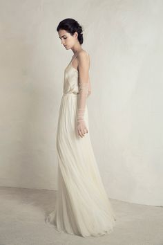 Wedding Hairstyles Inspiration : Julio Top with Lucky Skirt from Cortana wedding dresses Bridal Collection – Silk satin top with silk tulle flowing layered skirt – see the rest of the c… Wedding Dress Necklines, Wedding Dress Styles, Designer Wedding Dresses, Bridal Dresses, Flapper Dresses, Gorgeous Wedding Dress, Boho Wedding Dress, Wedding Gowns, Lace Summer Dresses