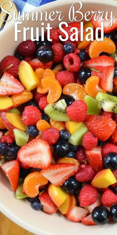 Summer Berry Fruit Salad Summer Berry Fruit Salad with honey lime dressing is a summertime favorite recipe for breakfast, brunch or dessert. Great for picnics, potlucks, and barbecues from Serena Bakes Simply From Scratch. Best Fruit Salad, Dressing For Fruit Salad, Summer Salads With Fruit, Fruit Salad Recipes, Lime Dressing, Fruit Fruit, Breakfast Fruit Salad, Berry Fruit Salads, Fruit Salad Dressings