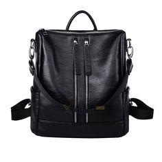 82bb43c23e1 Womens Backpack Shoulder Bags School Bag Tote Travel Pu Leather Handbag  Rucksack
