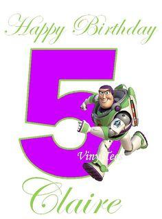 Toy Story Buzz Lightyear Personalized Birthday Shirt by VinylTees