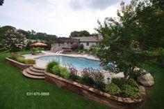 Travertine Pavers- Masonry Walls - Contractor Long Island NY http://deckandpationaturalstones.com/travertine-pavers-pool-patio.html