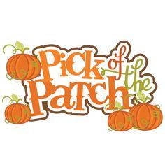 scrapbooking fall titles | Pick Of The Patch SVG scrapbook title pumpkin svg files fall svg cuts ...