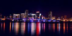 Miami Florida USA at Night