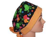 Scrub Hat Surgical Scrub Cap Chemo Hat Tie by ScrumptiousScrubHatz