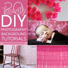 20 of the BEST #DIY #photography #backgrounds on the web - save hundreds of dollars and get fantastic photos with these tutorials for easy make your own photo backdrops.