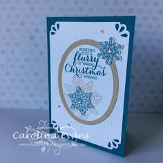 I have 2 cards to share with you today and they both have been created with a beautiful bundle set Flurry of Wishes. I am happy to say h...