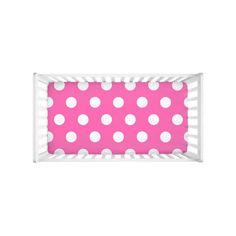 Hot Pink Polka Dot Baby Girl Crib Sheets Nursery Bedding Decor