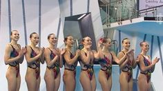 The Canadian women's synchronized swimming team captured gold for the second straight Pan Am Games on Saturday, July 11, 2015 in Toronto, Ontario. Rebecca Blackwell/The Canadian Press