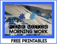 Find activities, free printables and ideas for January Fine Motor Morning Work especially for your kindergarten classroom. Differentiated Kindergarten, Kindergarten Freebies, Kindergarten Classroom, Classroom Activities, Classroom Ideas, Literacy, Motor Skills Activities, Fine Motor Skills, Work Activities