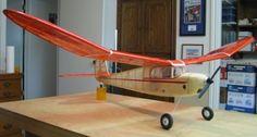 Coudster-50-inch-Old-Timer-Vintage-Free-flight-Model-AIrplane-Printed-Plans