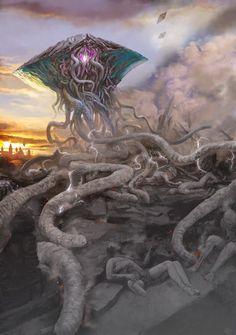 Magic: The Gathering Porn Alien Creatures, Fantasy Creatures, Mythical Creatures, Arte Horror, Horror Art, Magic The Gathering, Starcraft, Science Fiction, Lovecraftian Horror