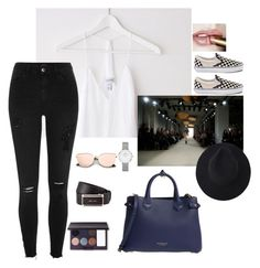 """""""Here for you. Because I love you"""" by youngsmile ❤ liked on Polyvore featuring Vans, River Island, Daniel Wellington, Burberry, Prada and Laura Mercier"""