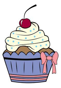 Cupcake Outline Clip Art  Cartoon Cupcake Outline Cake More
