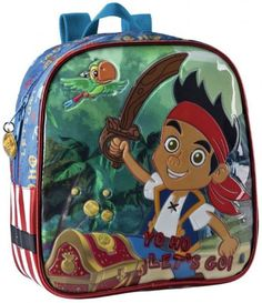 Jack il Pirata Disney Zaino Asilo e Tempo Libero, Accessori Scuola Disney Bambino - TocTocShop.com -new Jake The Pirate Backpack
