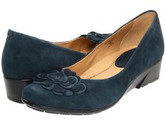 Earth Brushcherry Navy - 6pm.com, $65    Don't step on my....blue suede shoes.