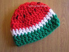 Handmade Baby Watermelon Hat