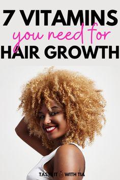 Natural Hair Care Tips, Be Natural, Natural Hair Styles, Natural Herbs, Vitamins For Hair Growth, Hair Vitamins, Home Remedies For Hair, Hair Loss Remedies, Dht Hair Loss