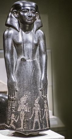 *EGYPT ~ Pa-Di-Iset Messenger to Canaan and Palestine Egypt Middle Kingdom 12th-13th Dynasty 1850-1712 BCE w/ inscription added during 3rd Intermediate Period 22nd Dynasty (?) 945-712 BCE Photographed at the Walters Art Museum in Baltimore, Maryland.