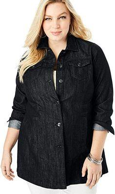 d3dfcd2352f AmeriMark Denim Big Shirt at Amazon Women s Clothing store ...