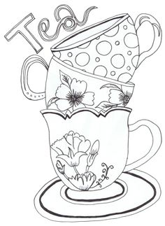 teapot print coloring pages for kids and for adults
