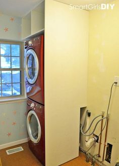 How Build Cabinet Around Stacked Washer Amp Dryer Bathroom Laundry