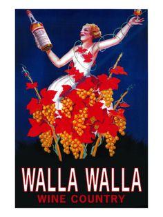 Woman with Bottle - Walla Walla, Washington Prints by Lantern Press at AllPosters.com