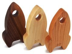 Wooden Baby RATTLE Rocket  - Organic and Stimulating for Little Ones