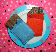 Items similar to In the hoop Felt food Chocolate Bars Embroidery Design on Etsy Food Crafts, Diy Food, Felt Food Patterns, Felt Cupcakes, Felt Play Food, Crochet Food, Homemade Toys, Fake Food, Felt Fabric