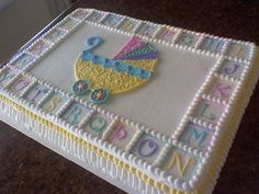 stroller baby shower By Corrie76 on CakeCentral.com