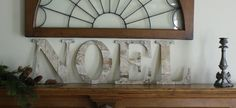 Birch NOEL sign Rustic Cottage Chic Christmas Holiday Home Decor Mantel Wall Decor on Etsy, $69.00