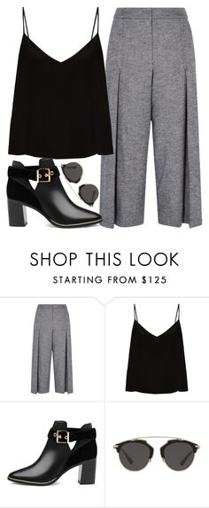 """Casual dark color outfit"" by mareehamasood246 on Polyvore featuring Karen Millen, Raey, Ted Baker and Christian Dior"