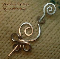 Förtjusande lite Celtic Swan Brosch Hair Pin eller Shawl av Kedikekik