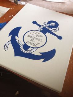 Silhouette School: Circle Split Anchor Silhouette Studio Tutorial (Works for Any Shape) Anchor Silhouette, Silhouette Vinyl, Silhouette Machine, Silhouette Studio, Silhouette Cameo Tutorials, Silhouette Projects, Canvas Designs, Vinyl Designs, Vinyl Crafts
