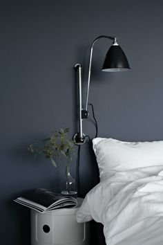 the perfect blue in nina holst& guest room, scandinavian bedroom inspiratio.