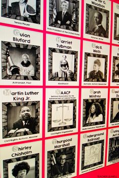 Help students learn about famous African-Americans with these Black History Alphabet Posters. History Bulletin Boards, Teacher Bulletin Boards, Bulletin Board Display, Black History Month Activities, History For Kids, Famous African Americans, African American History Month, History Posters, Graphic Organizers