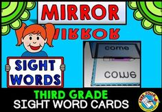 #MIRROR #SIGHT #WORD: #DOLCH #THIRD #GRADE #WORDS WHAT A FUN AND MOTIVATING WAY FOR KIDS TO READ AND PRACTICE SIGHT WORDS! Children will surely learn their sight words while having lots of fun as they use a mirror to reveal the 'magic' sight words on the cards!