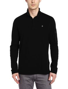 171545205 Amazon.com  Victorinox Men s Vx 1 4 Zip Long Sleeve Polo  Clothing
