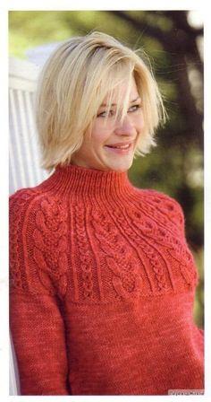 Пуловер с рельефной круглой кокеткой. Обсуждение на LiveInternet - Российский Сервис Онлайн-Дневников