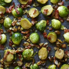 STIR+FRIED+BRUSSELS+SPROUTS+WITH+BACON+AND+CHESTNUTS,+a+delicious+recipe+from+the+new+M