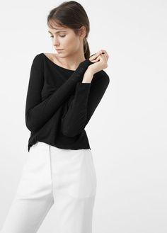 Melanżowa koszulka z bawełny