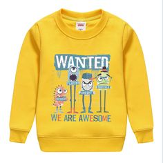 """fashion """"we are awesome """"letter pattern cotton winter autumn sweatshirts top soft outwear baby clothing hot sale. Funky Baby Clothes, Baby Boy Clothing Sets, Little Boy Fashion, Kids Fashion Boy, Silk Screen T Shirts, Kids Suits, Boys T Shirts, Boy Outfits, Pants"""