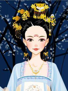 Chinese Fashion, Chinese Style, Chinese Art, Bubble Necklaces, Creative Pictures, Disney Fan Art, Princess Zelda, Disney Princess, Hanfu