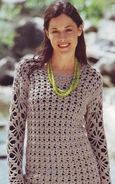 Lacy crochet sweater