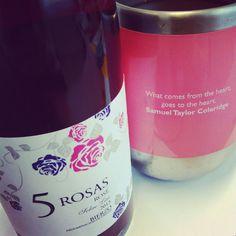 """What comes from the heart, goes to the heart. 5roses #favorite #vine #wein #vinos #wine #vino #vinho #vin #ワイン #wino #wijn #Вино #红葡萄酒  #losadavinos…"""