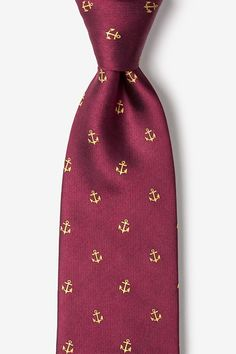 140c4b28a08d Anchor Burgundy Silk Tie | Nautical Neckties | Ties.com Burgundy Tie,  Burgundy Wedding